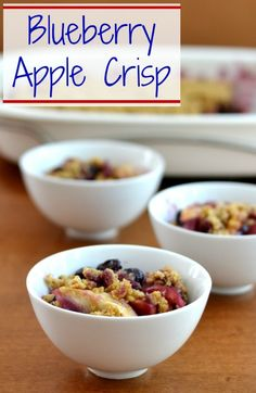 Blueberry Apple Crisp | Real Food Real Deals #healthy #recipe #dessert