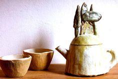 """La cena delle cento ciotole® """"Borgo teiera"""" teiera / teapot, grès"""