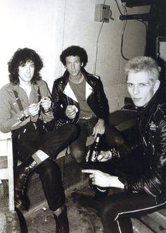 Mick Jones, Bob Gruen, and Paul Simonon
