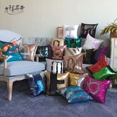 Pillowcase Decorative Mermaid Sequin Colorful Square Plain Knitted Hidden Zipper Pillow Home Car Sofa Cushion Cover Price history. Category: Home & Garden. Subcategory: Home Textile. Sofa Cushion Covers, Cushions On Sofa, Pillow Covers, Sequin Cushion, Sequin Pillow, Sequin Fabric, Car Sofa, Gear Best, Pillows