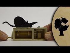 Katz und Maus - Holzautomat (Wooden Automata)