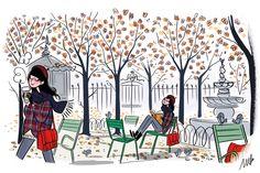 """""""literature is my utopia."""" - helen keller — bibliolectors:   Lectura otoñal (ilustración de..."""