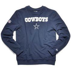 new era NFL TEAM SCRIPT CREWNECK DALLAS COWBOYS team colour