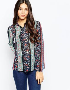 Image 1 ofStyle London Shirt In Floral Stripe print