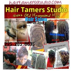 Hot hair styles at this Hot Hair salon in Baton Rouge Coming to A City Near you. Call or text for booking 225-205-8635 visit our website at hairtamersstudio.com Dread lock styles , Dread lock repair , dread lock lengthening , Weave removal , weave install , Sew in weaves , Braid less sew ins , micro link weaves , Fusions , net weaves , Cap weaves , Quick weaves ,  Tape weave , clip in ,closure install , hair cuts , short hair , taper , mo hawks , perms , hair styles , natural hair , natural…