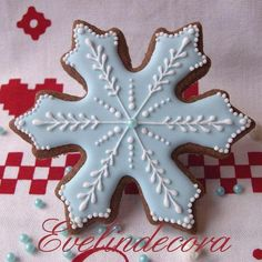 Light blue snow flake