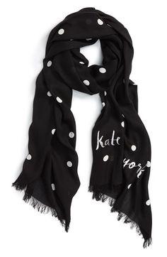 kate spade new york 'celebration polka dot' scarf available at #Nordstrom