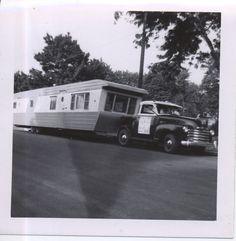 1953 Chevrolet Trailer Toter pulling House Trailer.