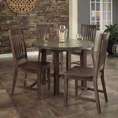 Have to have it. Urban Concrete Chic 5 Piece Dining Table Set - $919.61 @hayneedle