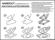 Bending Bars - Graffiti letters - Free Drawing lessons