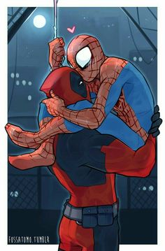 Deadpool and Spiderman Love