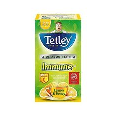 Tetley Super Green Tea Immune Lemon and Honey 20 per pack - Pack of 2 -- Read more  at the image link. (This is an affiliate link and I receive a commission for the sales)