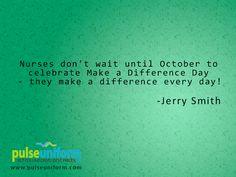 Make a difference daily. #nursing #nurse