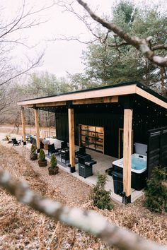 The Lily Pad - Hocking Hills- Shipping Container - Tiny houses for Rent in Logan, Ohio, United States - Modern Design Tiny House Cabin, Tiny House Living, Tiny House Plans, Tiny House Design, Modern Tiny House, Barn House Plans, Small Cabin Designs, Small Modern Cabin, Tiny House Village