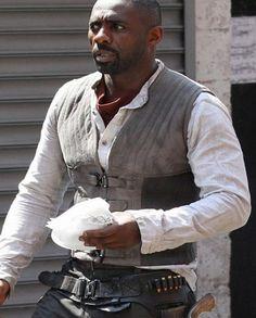 Dark Tower Idris Elba Idris Elba Dark Tower, Roland Deschain, Vest For Sale, The Dark Tower, Vest Coat, Character Names, Grey Fabric, The Darkest, Gray Color