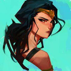 Wonder Woman by samuelyounart.deviantart.com on @DeviantArt - More at https://pinterest.com/supergirlsart #wonderwoman #fanart