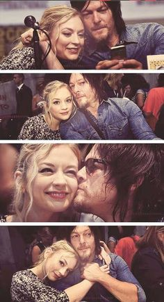 Norman Reedus and Emily Kinney (Daryl and Beth) | The Walking Dead - Bethyl | Normily