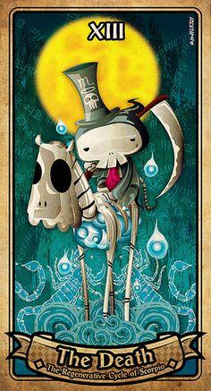 love the look of this tarot Tarot Card Decks, Tarot Cards, Tarot Interpretation, Tarot Death, Tarot Tattoo, Tarot Card Meanings, Major Arcana, Oracle Cards, Occult