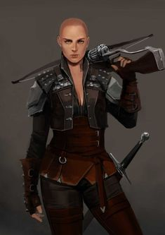 f Ranger Royal Constable Med Armor Crossbow Sword urban City undercity River Arcadia Quest lg Female Character Design, Character Creation, Character Design Inspiration, Character Art, Character Concept, Dnd Characters, Fantasy Characters, Female Characters, Fantasy Armor
