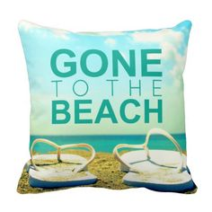 Gone to the Beach Flip Flop Pillow: http://www.beachblissdesigns.com/2015/08/gone-to-beach-flip-flop-pillow.html