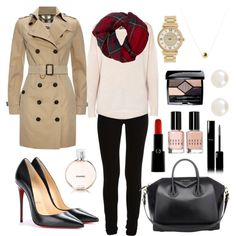 Untitled #12 by taisfidabelf on Polyvore featuring polyvore fashion style 360 Sweater Burberry VILA Christian Louboutin Givenchy Michael Kors Accessorize Fevrie Christian Dior Armani Beauty Chanel Bobbi Brown Cosmetics