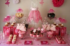Ballerina party; ok so now TRACI ALLEN, I am all in your business... how cute is this for mirandas birthday party??