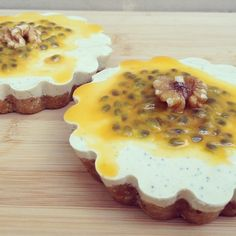 Raw Passion Fruit, Mango & Coconut Tarts - The Wholesome Life