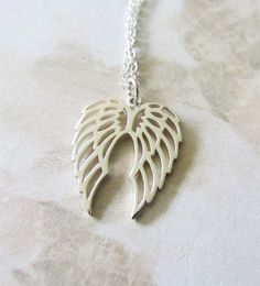 Sterling Silver Necklace with Angel Wings by RachellesJewelryBox, $41.00