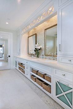 Aconchegantes Banheiros Brancos!por Depósito Santa Mariah