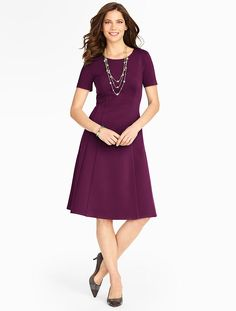 Talbots - Refined Ponte Fit-And-Flare Dress | Dresses |