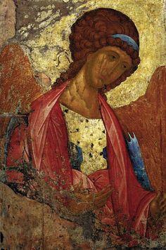 RUBLYOV, Andrey Deesis Range: The Archangel Michael 1410s Tempera on wood, 158 x 106 cm State Tretyakov Gallery, Moscow