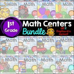 Go Math! Centers - the BUNDLE for First Grade by GlueSticks and Crayons by Michelle Lanning 1st Grade Math, First Grade, Grade 1, Daily Five Math, Go Math, Chapter 3, Google Classroom, Math Centers, Teacher Resources