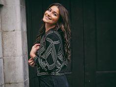 Gabriella wears Wallis Black Beaded Jacket | @bygabriellalondon