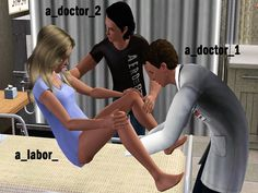 Hospital Labor Pose Set