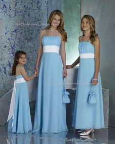 Light Blue Bridesmaid Dresses | ... Draped/Ruffles/Sash Sleeveless Light-Sky-Blue Chiffon Bridesmaid Dress