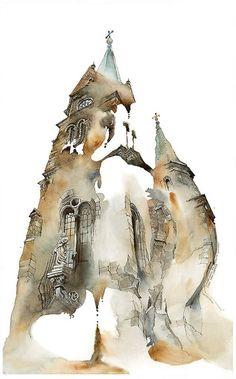 Les-vaporeuses-aquarelles-d-architectures-de-Sunga-Parc-5