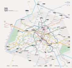 Sublyn est votre plan de métro, léger et rapide d'accès | Design by Geoffrey Dorne & Barbara Chabriw.