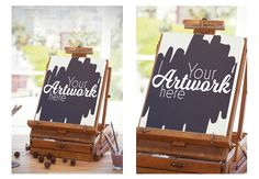 Easel With Canvas Mockup by wavebreak on @creativemarket