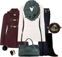 """cranberry & teal"" by lagu ❤ liked on Polyvore"