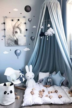 Create a cosy little corner in your HDB for your kids with the colour Blue ~