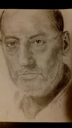 Jean Reno-pencil drawing-portrait
