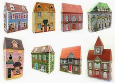 PAPERMAU: Darlington Village Papercraft Collection - by Christmas Village Displays