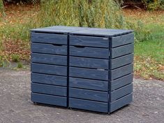 Mülltonnenbox Holz - Holzweise Garbage Can Shed, Garbage Storage, Garbage Containers, Wood Pallets, Pallet Wood, Outdoor Furniture, Outdoor Decor, Outdoor Storage, Planters