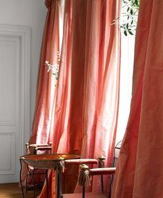Luscious pink silk curtains