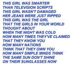 these are some of my fave vw lyrics (California English part 2)