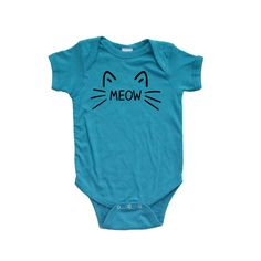 Apericots - Apericots Cute Meow Cat Whiskers and Ears Fun Short Sleeve Unisex Infant Bodysuit, $11.99 (http://www.apericots.com/apericots-cute-meow-cat-whiskers-and-ears-fun-short-sleeve-unisex-infant-bodysuit/)