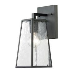 Titan Lighting, Gloucester Collection 1-Light Textured Matte Black Outdoor Sconce, TN-36016 at The Home Depot - Mobile