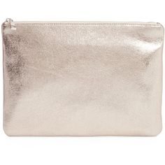 BP. Faux Leather Large Zip Pouch ($9.97) ❤ liked on Polyvore featuring bags, handbags, clutches, silver, vegan handbags, vegan leather purses, pink purse, party purses and pink clutches