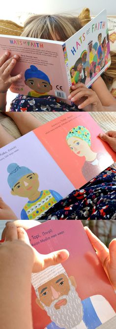 'Hats Of Faith' is a beautiful new board book which celebrates the shared custom of head covering in different faiths around the world. It's a wonderful way to help educate our children about diversity and tolerance in a simple, endearing way.