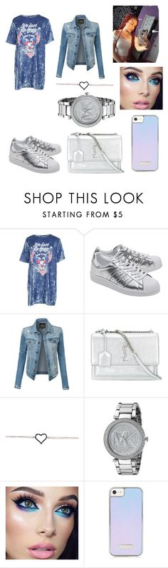 """""""Untitled #333"""" by askariwilson on Polyvore featuring Boohoo, adidas Originals, LE3NO, Yves Saint Laurent and Michael Kors"""
